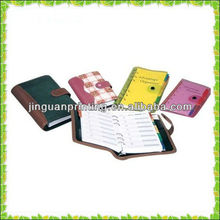 Promotional!!leather bound book printing with pen make in china