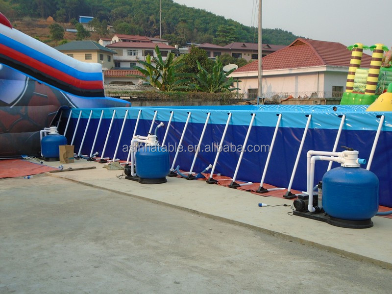 Giant Rectangular Inflatable Metal Intex Frame Above Ground Swimming Pool Buy Pool Frame Frame