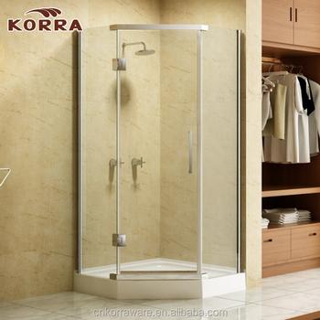 Corner Frameless Exterior 2 Sliding Shower Door516 Glass