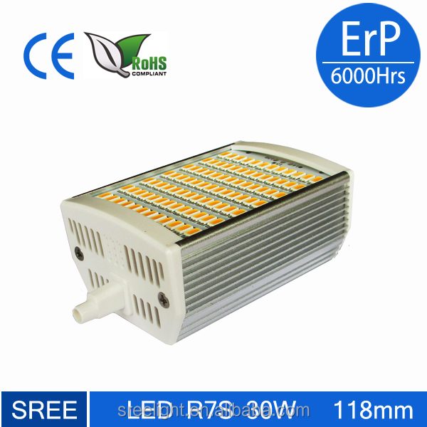 Sree Led Light 30w R7s 3000lm 118mm Dimmable Oven Lamp Bulb
