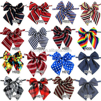 Wholesale necktie tie cravat school uniform butterfly large bow ...