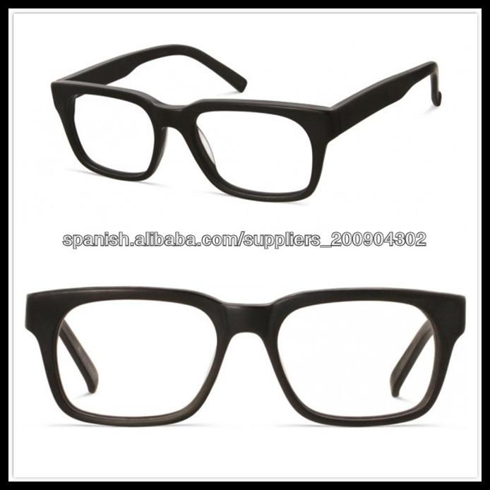 italia gafas de diseño marco negro completo de espectáculos-Molduras ...