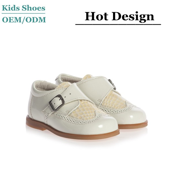 J-0087 Children School Shoes New Style Fashion Kids Dress Shoes Boys Ivory  Patent Leather Shoes e68cad32a
