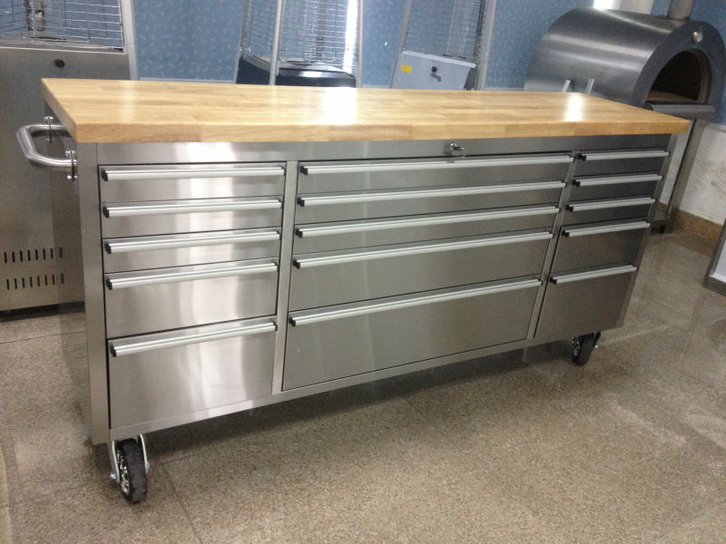 72 Inch Heavy Duty Stainless Steel Mobile Tool Trolleys