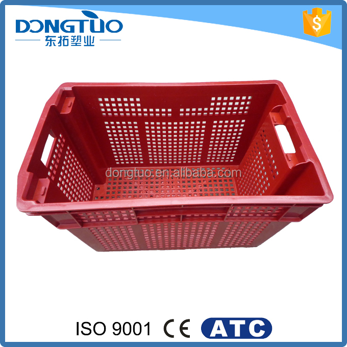 Plastic fruit crates vegetable crates, high quality hard plastic crate