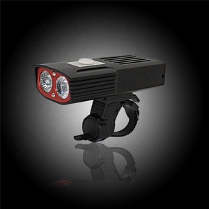 Amazon Hot Selling USB Rechargeable Bike Light 2000 Lumens, Bicycle Light Set with lion battery