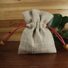small jute spice packaging bag with drawstring for rice