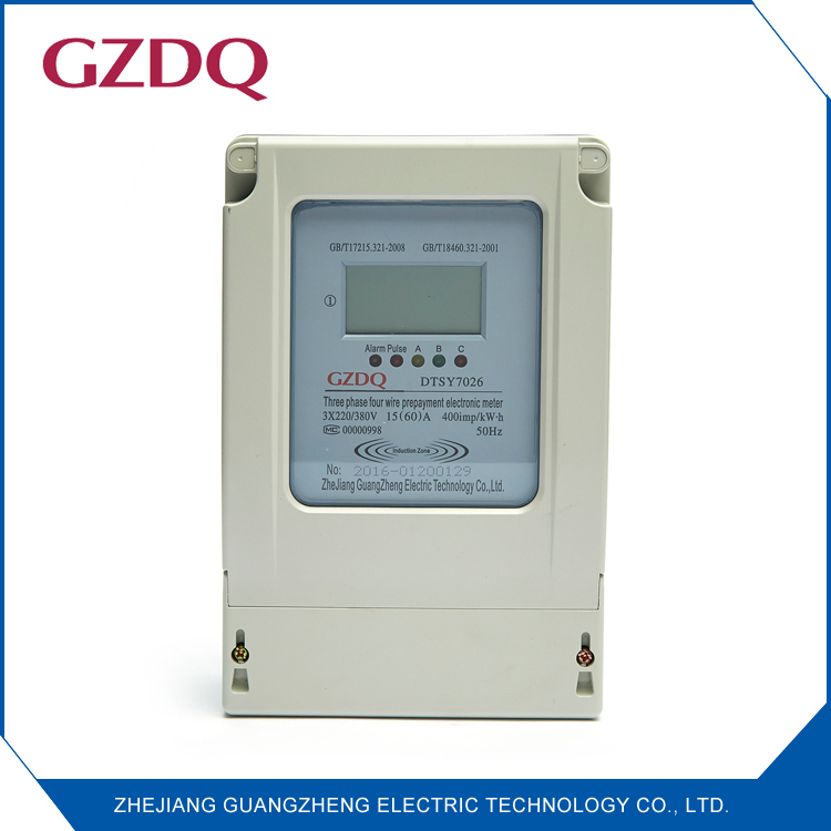 Induction Type Smart Ic Card Lcd Digital Display Three Phase Four ...