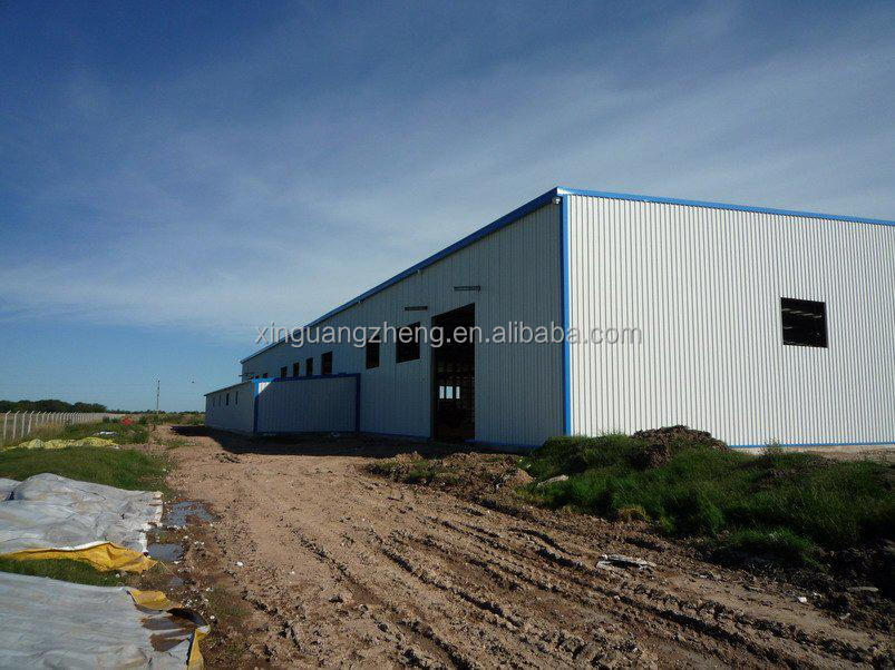 light portal framed steel structure warehouse made in China