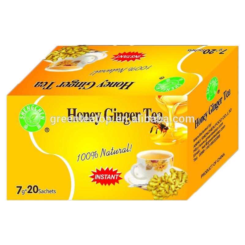 Hot sale in bagged 6g/7gx20bags/box 13g*10bags healthy instant honey ginger tea bag - 4uTea   4uTea.com
