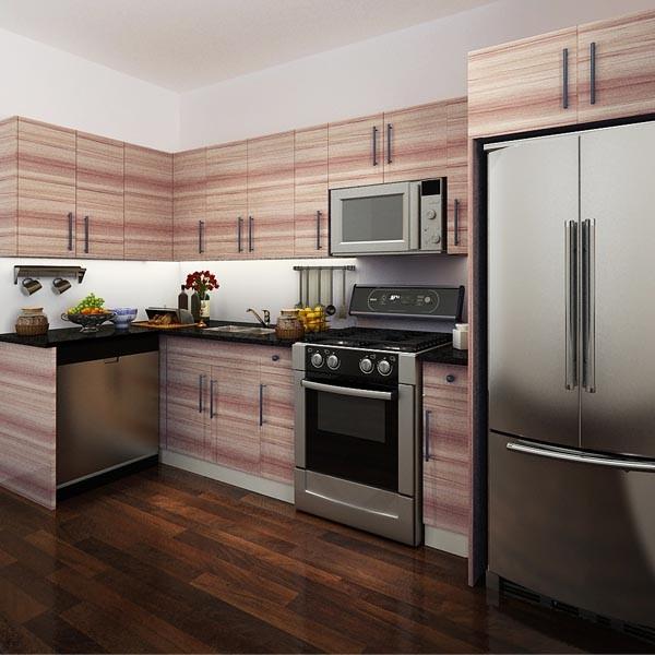 canada proyecto de cocina de melamina gabinetes de la