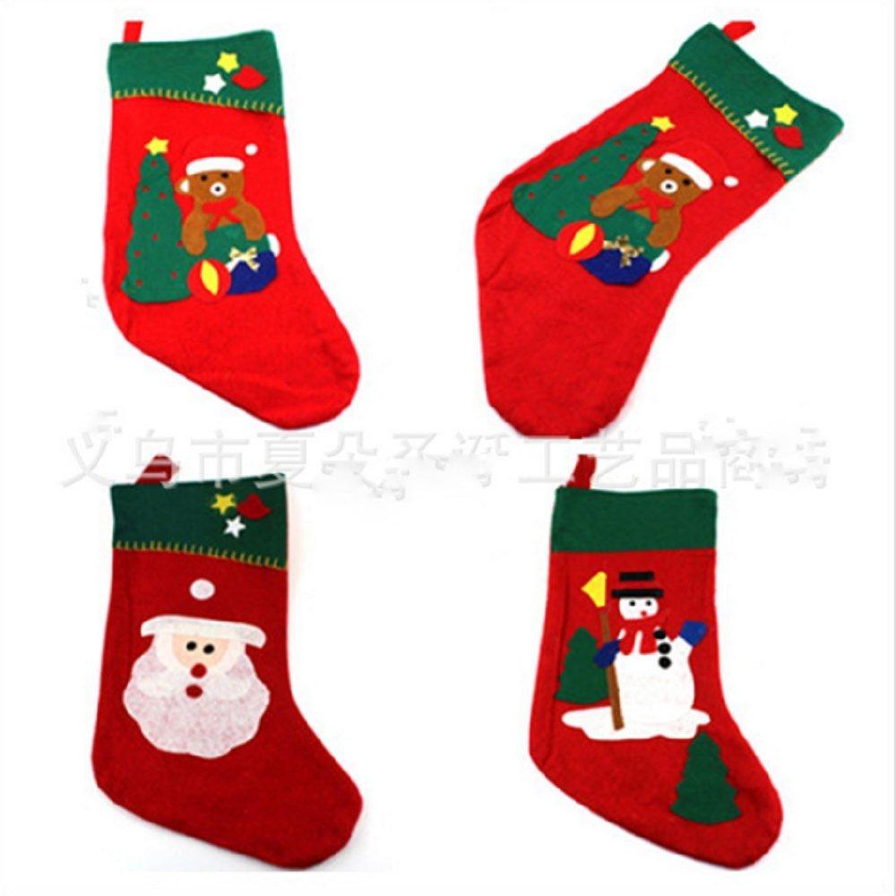 christmas decorations christmas stockings vintage set of 6 xmas gift candy bags socks snowman reindeer - Where To Buy Christmas Stockings