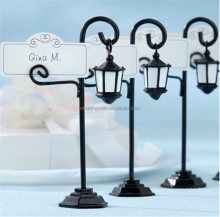 "Wedding decoration and wedding party favor--""Bourbon Street"" Streetlight Place Card holder"