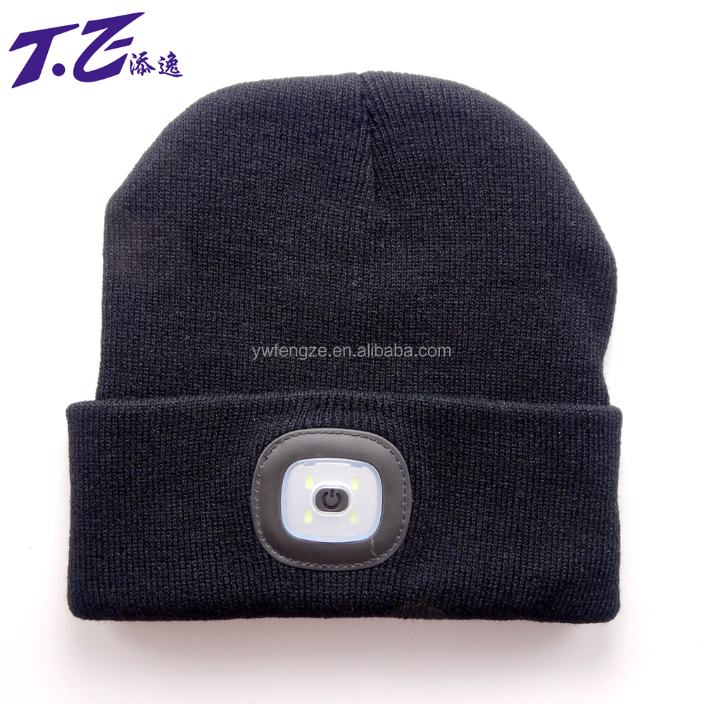 LED Knitted flash light Beanie Hat