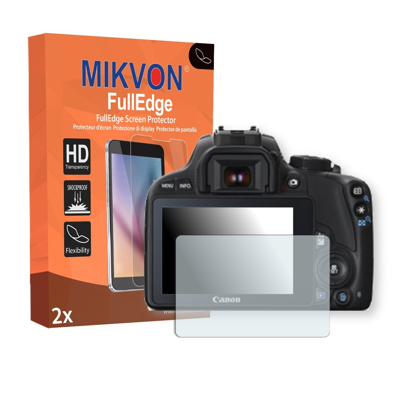 Cheap 100d Canon Find Deals On Line At Alibabacom Eos Kit 18 55 Is Stm 100 D Get Quotations 2 X Mikvon Fulledge Screen Protector For Foil With Full