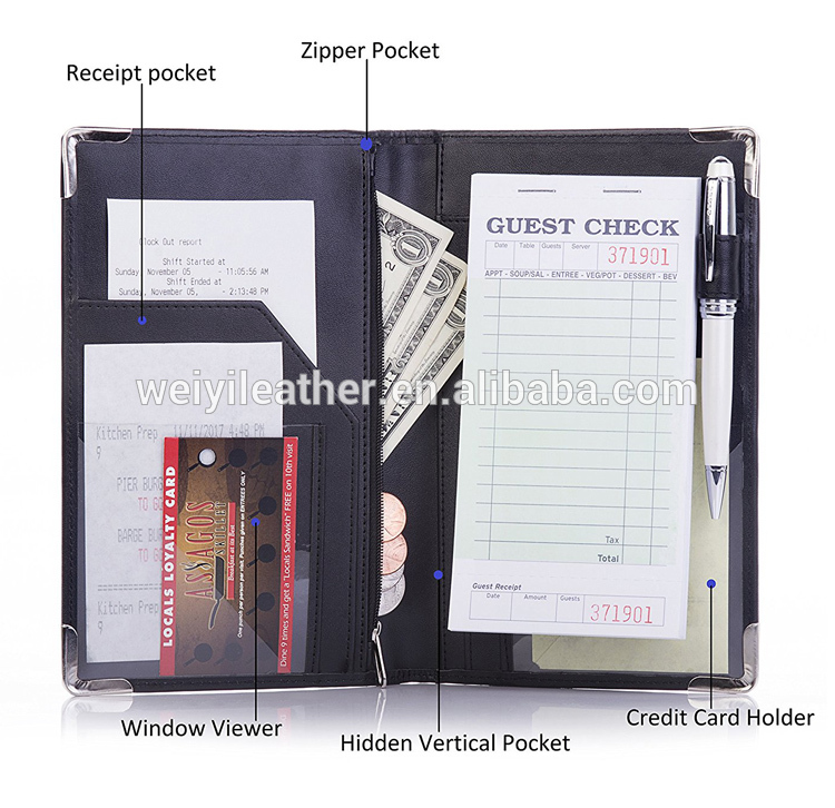 1x Black Padded GUEST CHECK PRESENTER Credit Card Bill Receipt Holder
