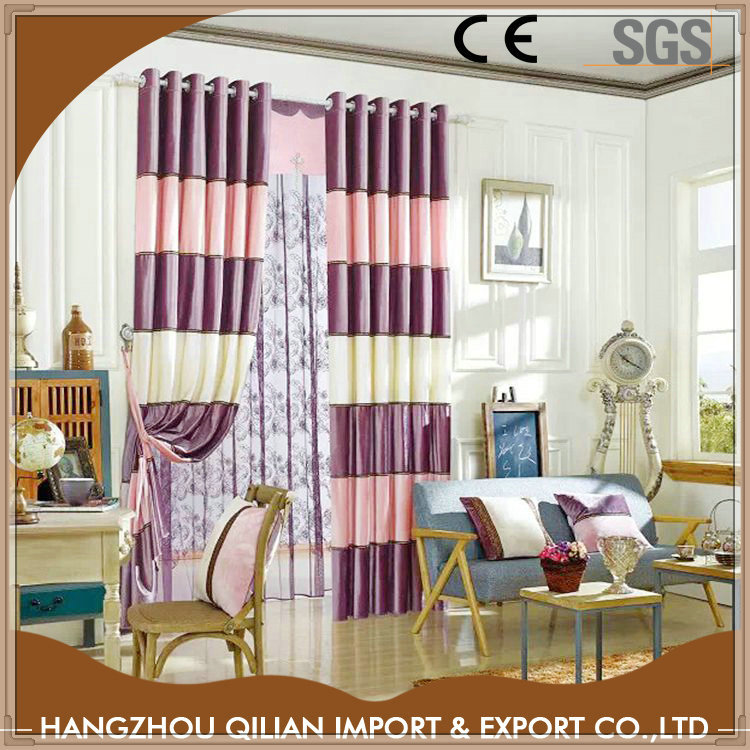 Italy velvet patchwork blackout modern window curtain sizes