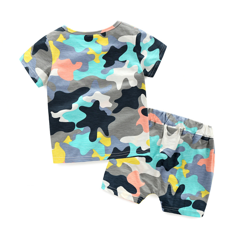 Boutique children''s summer clothing sets camo printing kid clothing