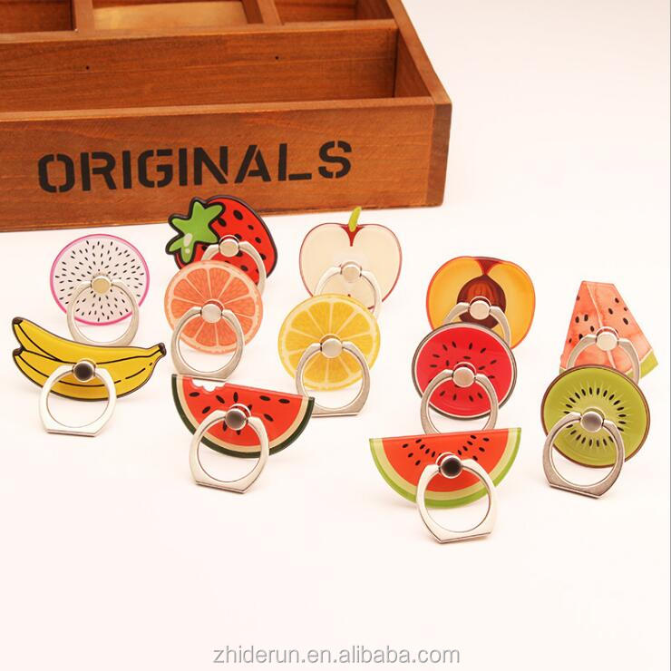 Cute Wholesale Lovely Fruit Mobile Phone Ring Holder Stand from alibaba express