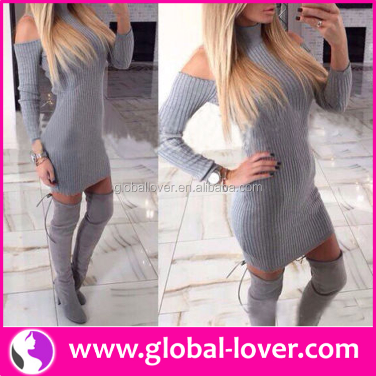 Shenzhen Wholesale Clothing Gray Dresses Women 2016 Latest Dress Designs Photos