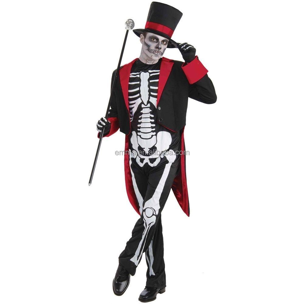 m. os jangles mens squelette halloween fantaisie robe james bond