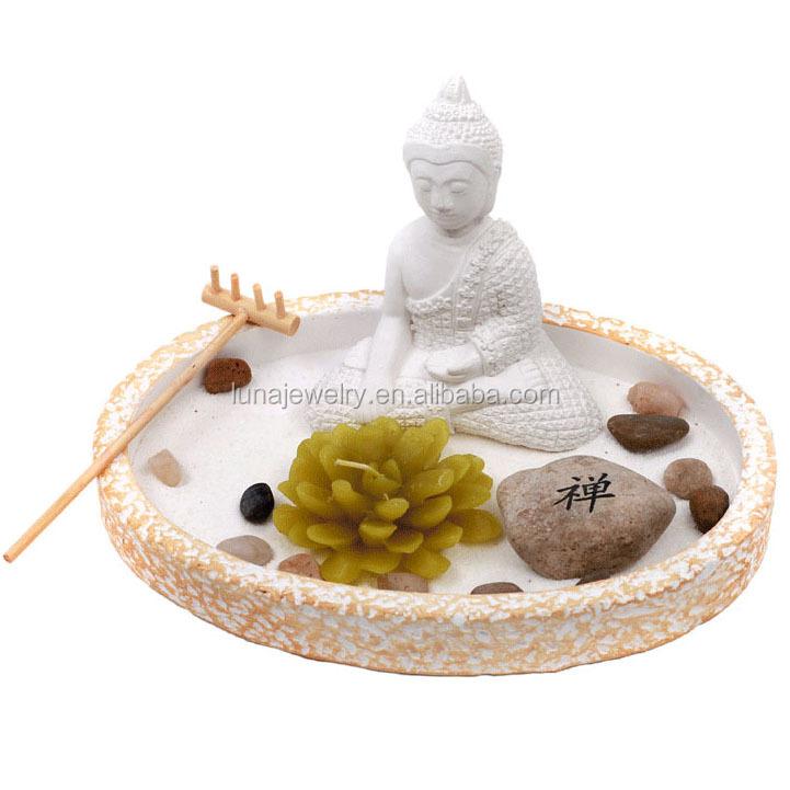 Resin Gautama Buddha Zen Garden Statue, Resin Buddhist Statues ,Mini Zen  Garden