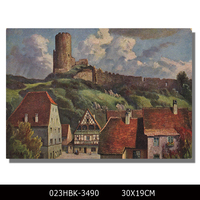 Smooth neat village paintings prints on canvas beautiful wall printed painting decoration for bedroom wall decoration art