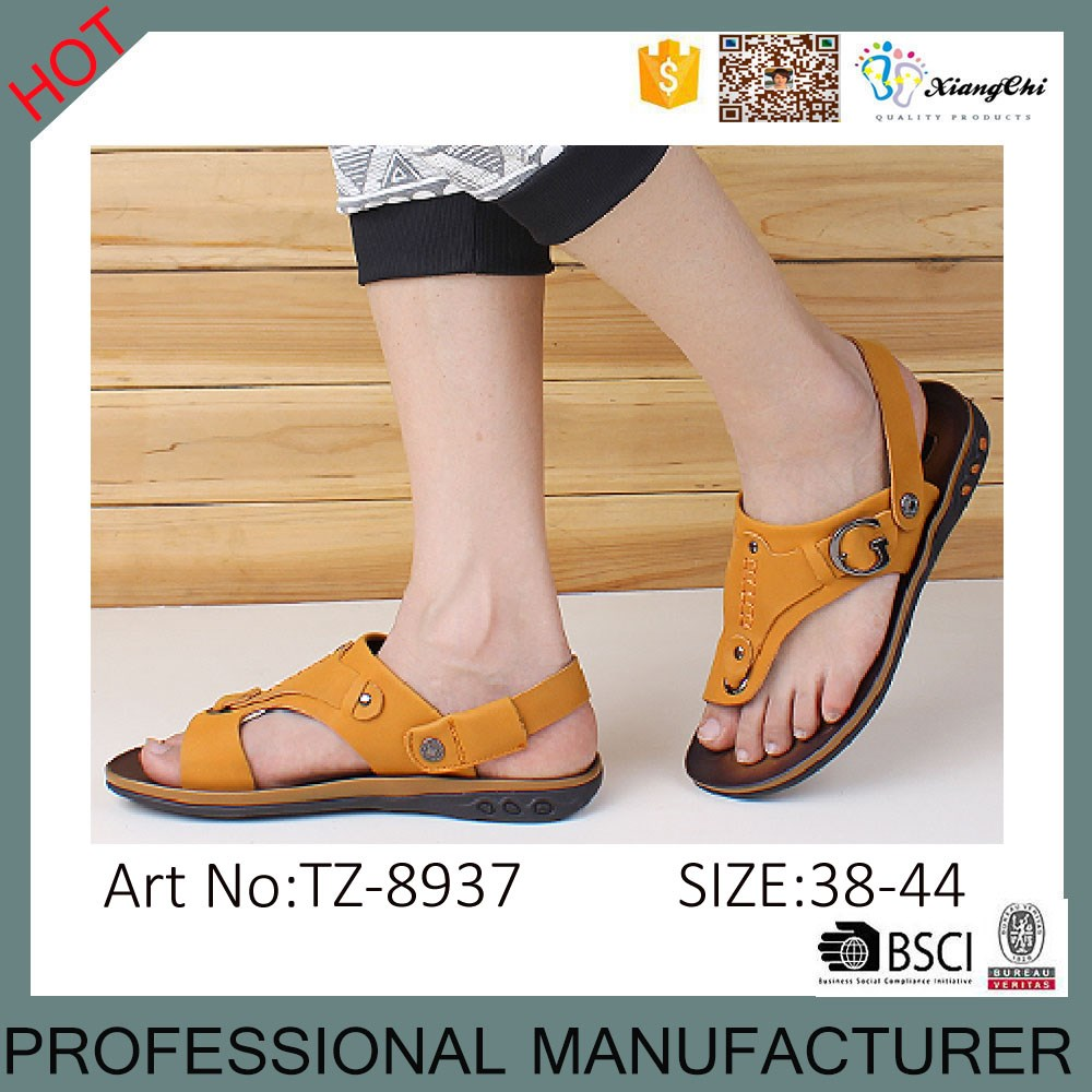 72eca937c9c New Style Summer Breathable Slippers Online Genuine Leather Men s Sandals