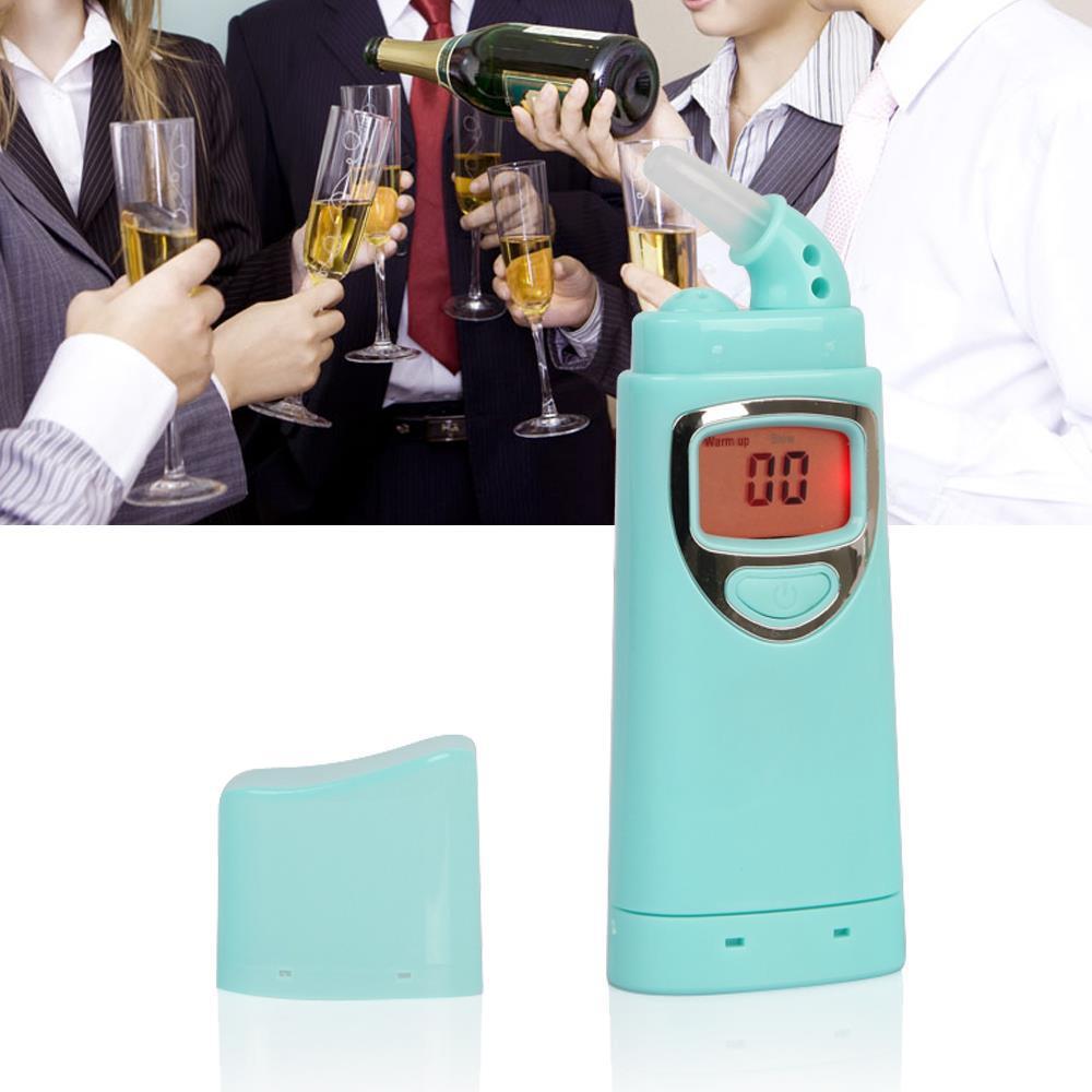 10 шт. синий цифровой тестер спирта дыхание алкотестер Alcotest индивидуальный алкоголь вождение в нетрезвом виде тестер автомобиля гаджет алкоголь тестер