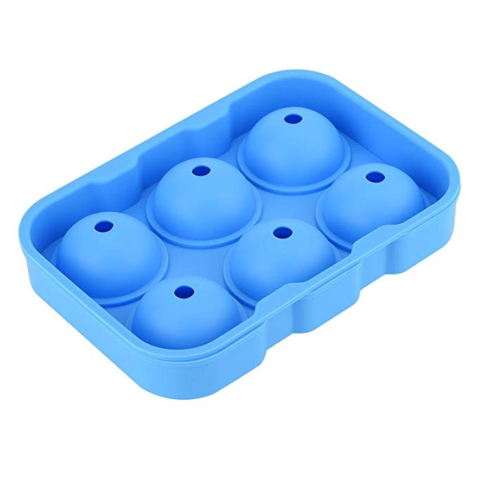 Silicone Round Ball Maker Reusable Ice Cube Tray 6 Cavities Chocolate Candy Mold Kitchen Tool