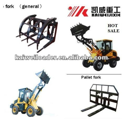 KAIWEI hydraulic quick hitch ZL12 wheel loader for sale