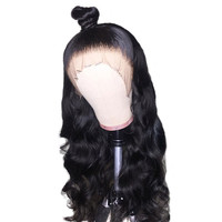 180 density hot selling pre plucked body wave lace front human brazilian hair wig human lace front wigs under 100