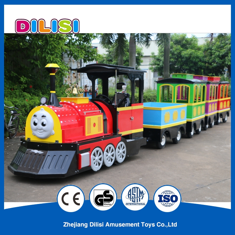 Newest Kids Electric Toys Amusement Park Rides Trackless Trains for Sale