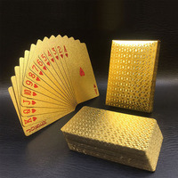 24K gold high quality PVC Plastic playing card waterproof gold PVC poker
