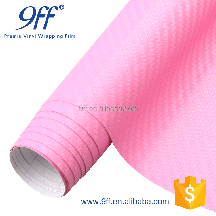 1.52*30m Factory Price Pink Carbon Fiber Car Cover Vinyl For Car