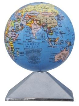 Rotating World Globe Battery Operated