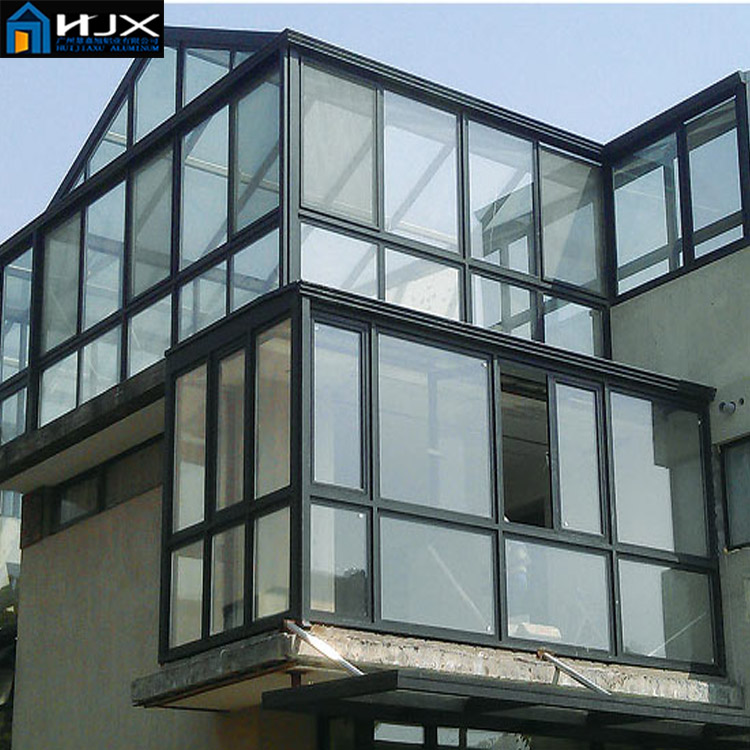 prefabricated glass house sun room winter garden for outdoor