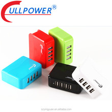 Colorful Switching UL FCC CE Smart IC 4 Port multi USB cell phone cellphone portable mobile charger charging station