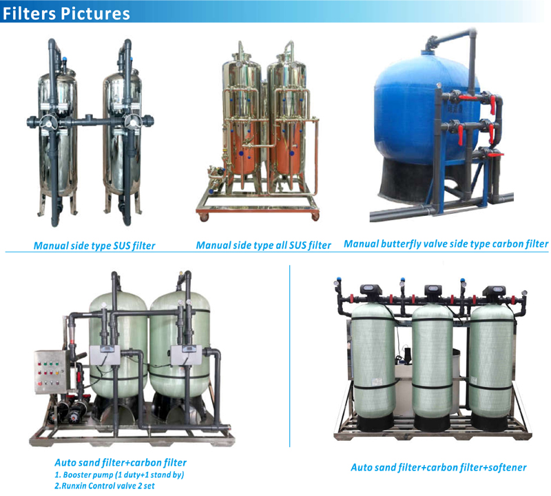 Sand filter, activated Carbon filter and other pressure filters