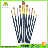 Stylish sell well oil paint and acrylic art line oil paint brush set