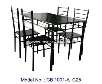 Color Negro Puro Metal Muebles,Comedor Juego De Muebles,Diseño ...
