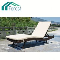 Competitive Price ODM Available synthetic rattan chaise lounge