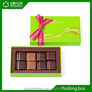 Custom chocolate selection gift boxes printed with ribbon