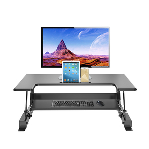 Ergonomic height adjustable computer sit stand desk/workstation in home/office (JN-LD02 A2)