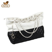 2015 lady designer handbags retail in quilted effect with metal chain shoulder bags