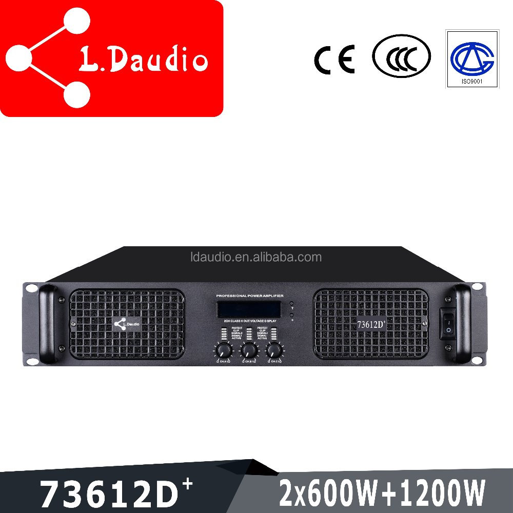 3 channel 600w professional harga power amplifier with display