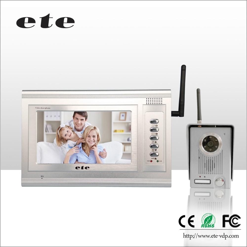 Wifi Doorbell 7inch Long Range Wireless Video Intercom Video ...