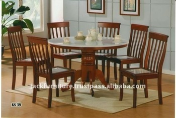 Marble Top Dining Set, Dining Room Set, Dining Room Furniture