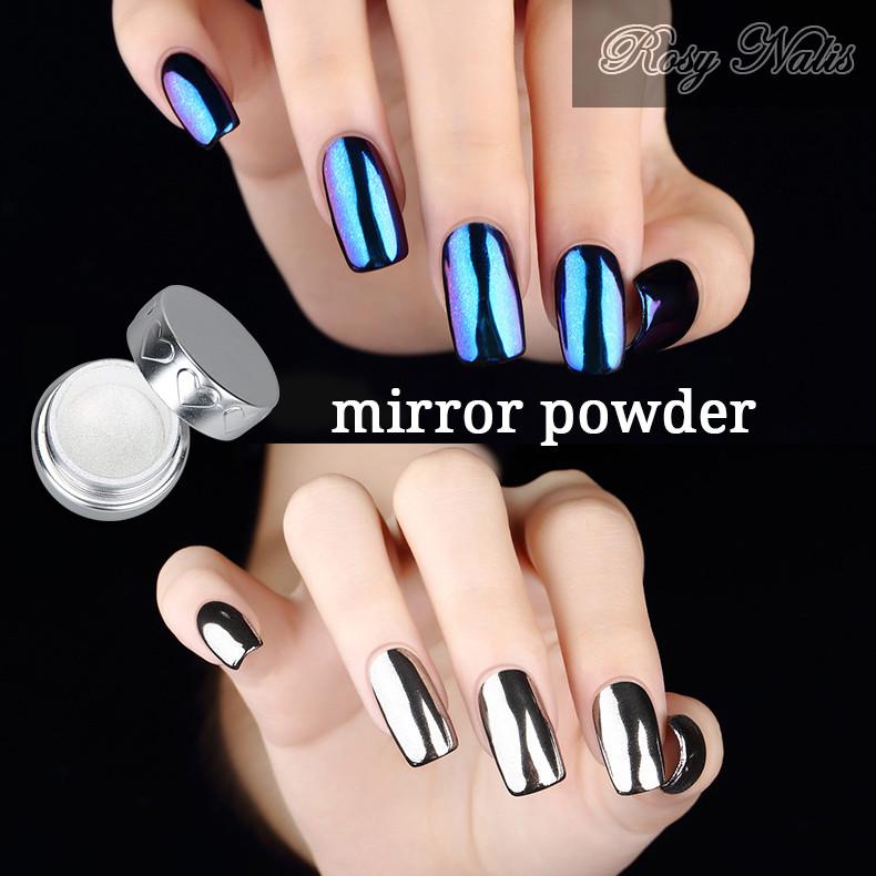Chrome Powder Nail Mirror Dip Nails