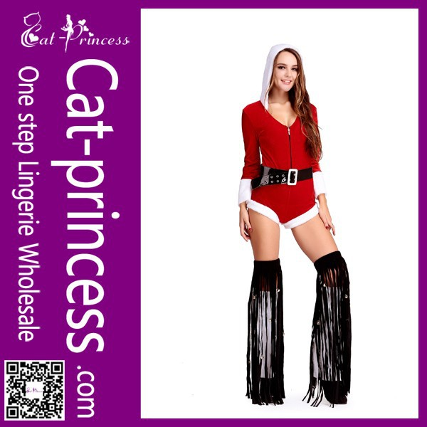 new design character long sleeves sexy woman christmas costume